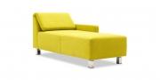 FUTURA - Liegesofa mit klappbaren Rücken in Stoff Brasilia Chris Boussac gelbgrün