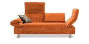 FUTURA mit Armlehne FUGO - 2 Platz Sofa im Stoff orange von S & V Magic Teddy