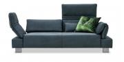 FUTURA mit Armlehne FUGO - 2,5 Platz Sofa in Mikrofaserstoff S & V Sariba anthrazit