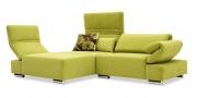 FUTURA mit Armlehne FUGO - Sofa mit Longchair in Stoff Sonnhaus Villena farn grün