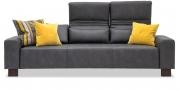 FUTURA - 3 Platz Sofa mit verstelbaren Rücken in Stoff Sonnhaus Vintage Style Dallas graphit