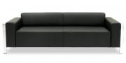 HAMPTON - 2,5 Platz Sofa in schwarzem Leder
