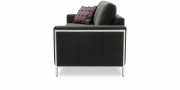 HARLEM - 2,5 Platz Sofa in anthrazitfarbenem Stoff mit Detail auf Metallarmlehnen