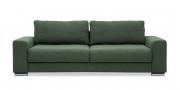 HOME - 3 Platz Sofa in Stoff Art Novel Comara forest grün meliert