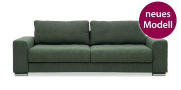 neues Modell HOME - 3 Platz Sofa in Stoff Art Novel Comara grün meliert