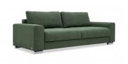 HOME - 3 Platz Sofa in Stoff Art Novel Comara forest grün meliert seitliche Ansicht
