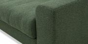 HOME - 3 Platz Sofa in Stoff Art Novel Comara forest grün meliert Detailansicht Armlehne