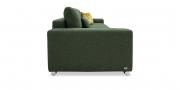 HOME - 3 Platz Sofa in Stoff Art Novel Comara forest grün meliert Detailansicht Rücken