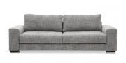 HOME - 3 Platz Sofa in Stoff Art Novel Coaxi Coari granite