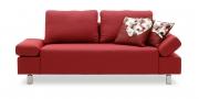 INDIGO - 2 Platz Sofa im Stoff Bendigo rot