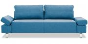 INDIGO - 2,5 Platz Sofa in grau-blauem Stoff