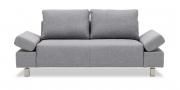INDIGO - 2 Platz Sofa in grauem Stoff Höpke Active Clean