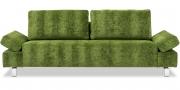 INDIGO - 2,5 Platz Sofa mit verstellbaren Armlehnen in Stoff Designer's Guild Zaragoza Leaf