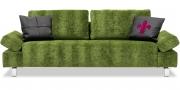 INDIGO - 2,5 Platz Sofa in grünem Samtstoff von Designer's Guild Zaragoza Leaf