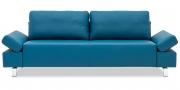 INDIGO - 2,5 Platz Sofa mit verstellbaren Armlehnen in Leder Prescott pacific