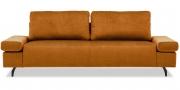 INDIGO - 2,5 Platz Sofa mit klappbarer Armlehne in Velous copper