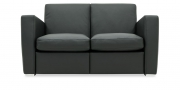 KING CARL II - 2 Platz Sofa in Leder Napoli schwarz