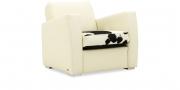 KING CARL II - Loungesessel in weißem Leder in Kombination mit Kuhfell Sitzkissen