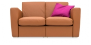 KING CARL II - 2 Platz Sofa in Leder Rustik tabacco