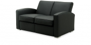 KING CARL I - 2 Platz Sofa in Leder schwarz