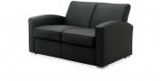 KING CARL I - 2 Platz Sofa in Leder schwarz