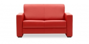 LIBERTY-Jamaika - 2 Platz Sofa  in Leder Select rot