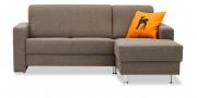 LIBERTY-Jamaika - 2 Platz Sofa mit Longchair im Stoff Imola rauchquarz