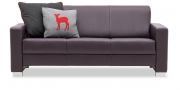 LIBERTY-Jamaika - 3 Platz Sofa in Leder Club aubergine