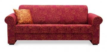 LIBERTY-Lola - 3 Platz Sofa in floralem, rotem Stoff