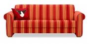 LIBERTY-Lola - 3 Platz Sofa im Stoff S+V Galeria rot-gestreift