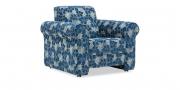 LIBERTY-LOLA - Sessel mit Rollen in Stoff Vario Varberg blau floral
