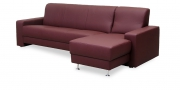 LIBERTY-Ohio - 3 Platz Sofa mit Longchair in weinrotem Leder