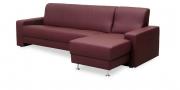 LIBERTY-Ohio - 3 Platz Sofa mit Longchair in weinrotem Leder