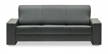 LIBERTY-Ohio - 3 Platz Sofa in schwarzem Leder