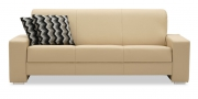 LIBERTY-Ohio - 3 Platz Sofa in Leder Jumbo kaschmir