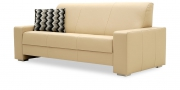 LIBERTY-Ohio - 3 Platz Sofa in Leder Jumbo kaschmir