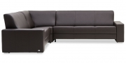 LIBERTY-OHIO - Ecksofa in Leder Prescott ebony