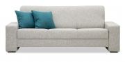 LIBERTY-OHIO - 3 Platz Sofa in Stoff S&V Style grau im Fischgrätmuster
