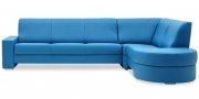 LIBERTY-OHIO - Ecksofa in Leder Club lagune hellblau