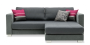 LIVING - 3 Platz Sofa mit passendem Hocker im Sonderbau