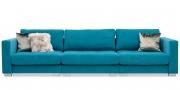 LIVING - Sofa Module in Sonderbreite in Stoff Sonnhaus Villena türkis