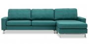 MENTA - 2,5 Platz Sofa mit Longchair in Stoff Chivasso Carlucci Member