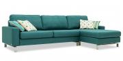 MENTA - 2,5 Platz Sofa mit Longchair in Stoff Chivasso Carlucci Member Seitenansicht