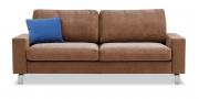 MENTA - 2,5 Platz Sofa in braunem Alcantara