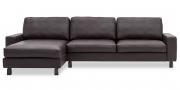 MENTA - 2,5 Platz Sofa in Leder Ibiza mocca braun