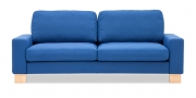 MENTA - 2,5 Platz Sofa in Stoff S & V Martinez blau