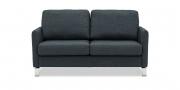 MILO - 2 Platz Sofa in grauem Stoff