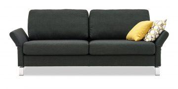MILO - 2,5 Platz Sofa in grauem Stoff mit Dekokissen