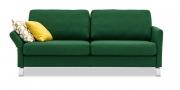 MILO - 2,5 Platz Sofa in grünem Stoff mit passenden Dekokissen