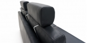 MILO - Detailbild universale Einsteck-Nackenstütze in schwarzem Leder